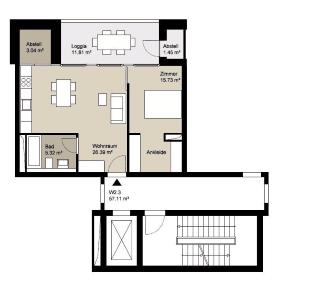 Einmalige Immobilie - Erstklassige Adresse! JETZT für SIE: KOMFORTWOHNUNG am HÖHENPARK KILLESBERG