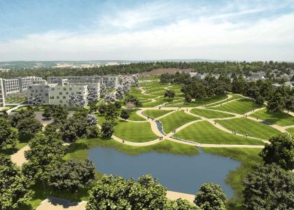 Großzügige moderne Erdgeschosswohnung mit 240 m² Privatgarten am Höhenpark Killesberg