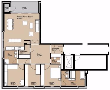 WOHNEN IN DER NEUEN MITTE - EXKLUSIVE 107 m² mit EINER GROßEN SONNIGEN LOGGIA