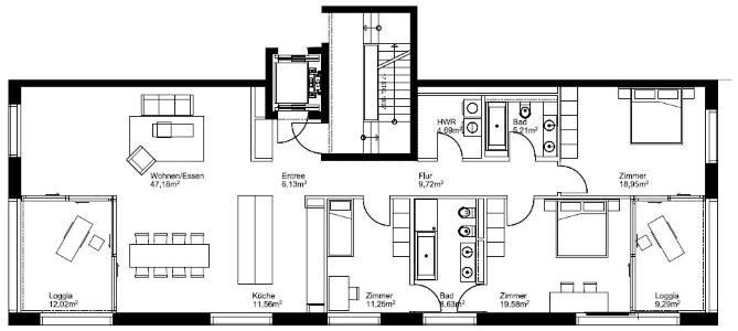 Wunderschöne Wohnung direkt am Park mit LUXURIÖSER AUSSTATTUNG + 2 Bädern und Loggien